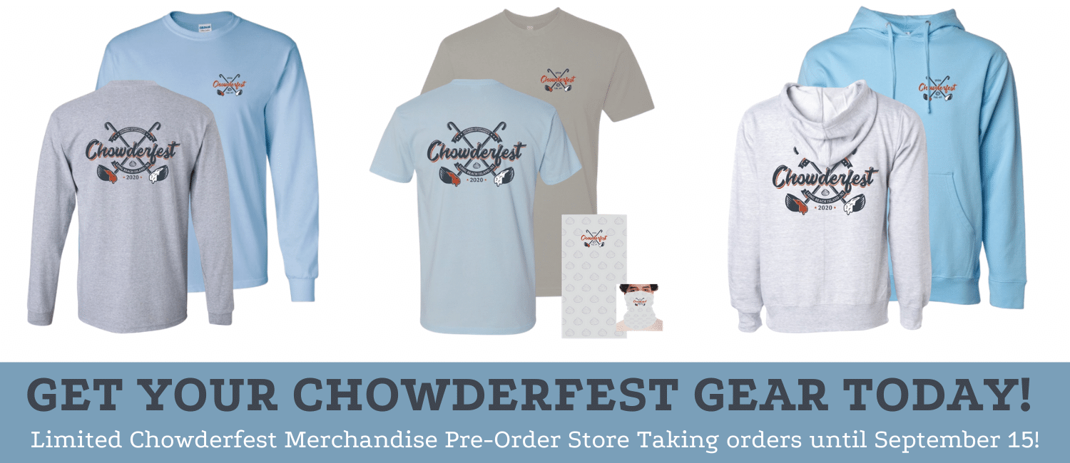 Chowderfest merchandise available for purchase